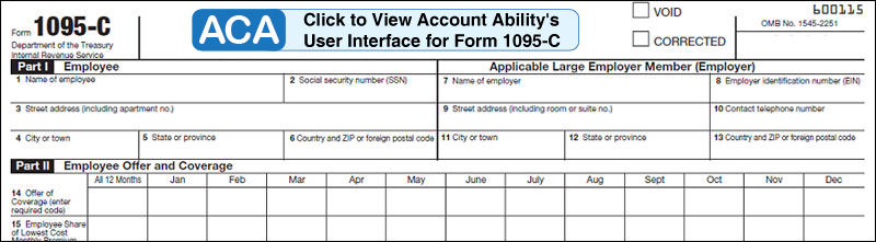 Software to print and E-File 1094-C and 1095-C ACA forms